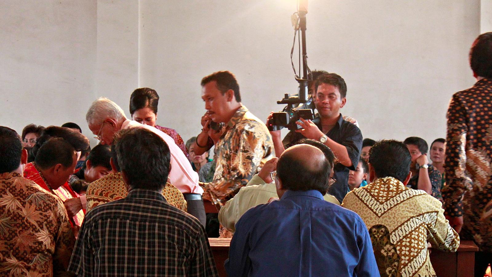 Perayaan acara pesta Batak di sebuah wisma.