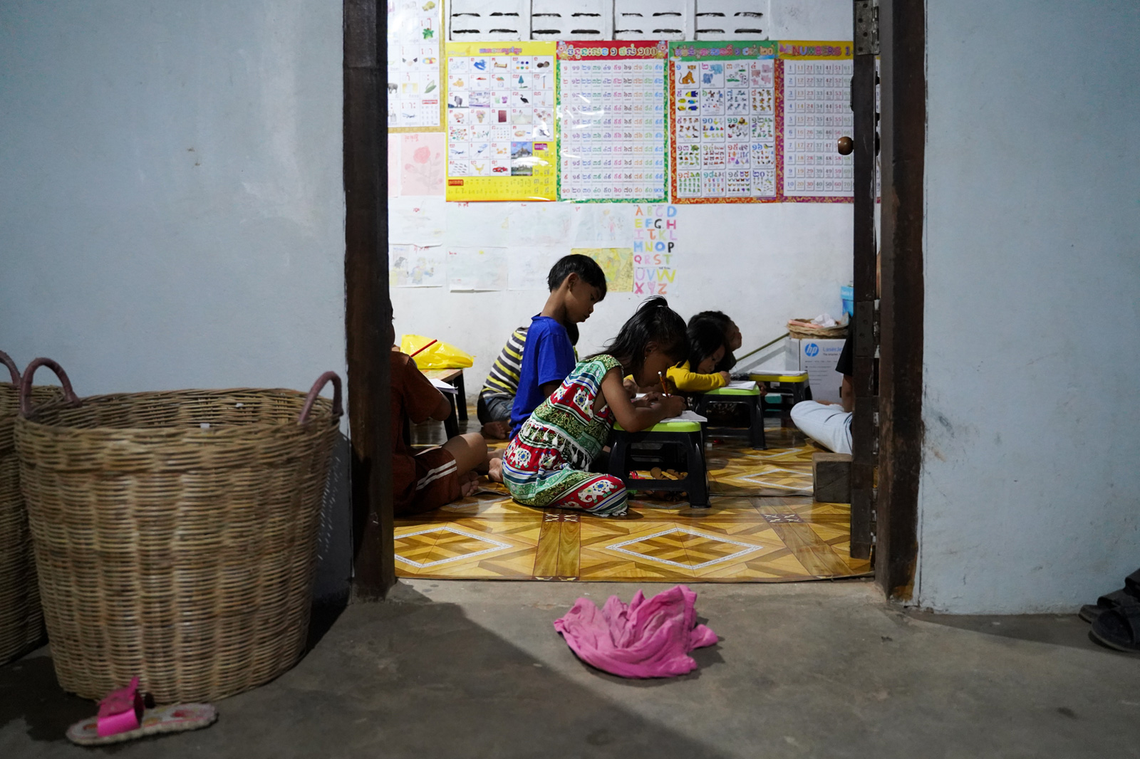 Daily Khmer and English classes are held at the Village Library in Roha Village. The library is located in an extra room of the librarian's house.