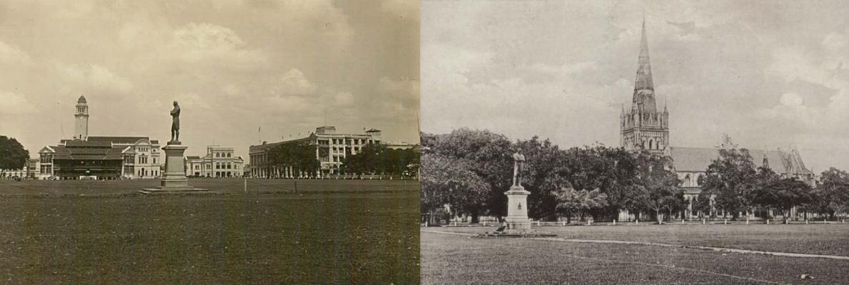 The Raffles Statue in its original location - New Naratif