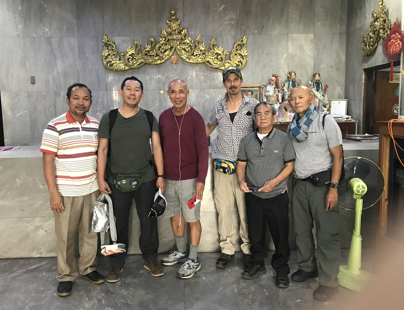 CNRP supporters in Bangkok on 12 November 2019. From left, Khin Chumroeun, Daley Uy, Hay Kimsan, Daniel Capka, Kirishima Taro and Sam Var.